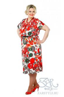 """Платье """"Блиф"""" Zar Style (Красный)"""