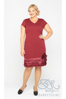 "Платье ""Ринальди"" Zar Style (Бордо)"