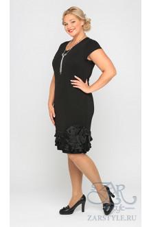 """Платье """"Ринальди"""" Zar Style (Черный)"""