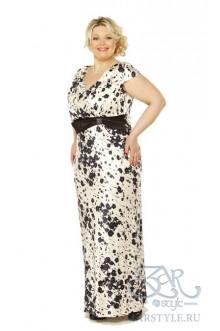 """Платье """"Сакура"""" Zar Style (Черные цветы)"""