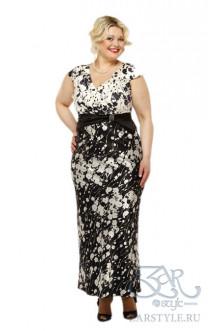 "Платье ""Сакура"" Zar Style (Белые цветы)"