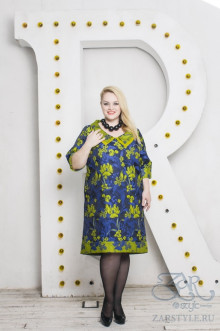 "Платье ""Янита"" Zar Style (Синий/зеленый)"