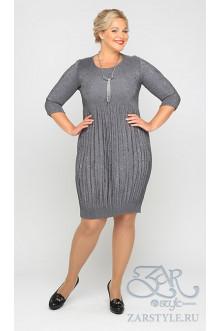 "Платье ""Фонда"" Zar Style (Серый)"