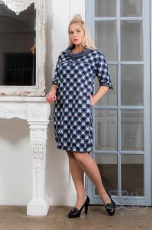 """Платье """"Нила"""" Zar Style (Синий/клетка)"""