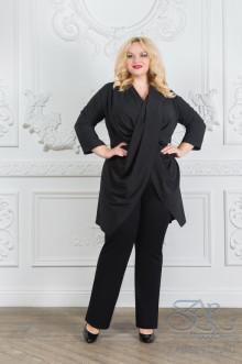 """Блуза """"Эстелла"""" Zar Style (Черный)"""