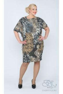 """Платье """"Трина"""" Zar Style (Леопард)"""