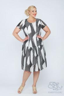 "Платье ""Мелоу"" Zar Style (Черный/белый)"