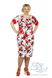 """Платье """"Медея"""" Zar Style (Красный)"""