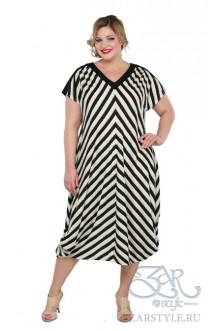 "Платье ""Клуни"" Zar Style (Черный/бежевый)"