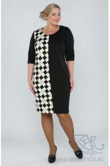 "Платье ""Марго"" Zar Style (Черный/белый)"