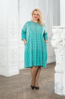 """Платье """"Цветана"""" Zar Style (Зеленый/серый)"""