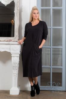 "Платье ""Анталья"" Zar Style (Черный меланж)"