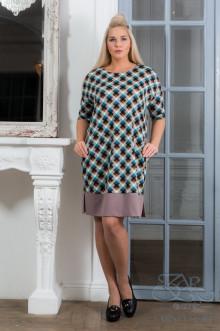 "Платье ""Акрис-евро"" Zar Style (Клетка/бирюза)"