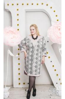 """Платье """"Аврора"""" Zar Style (Серый/розовый)"""