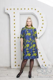 """Платье """"Графира"""" Zar Style (Синий/зеленый)"""