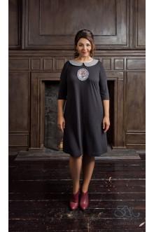 "Платье ""Виржель"" Zar Style (Черный меланж)"