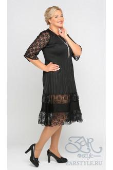 "Платье ""Ажур"" Zar Style (Черный)"