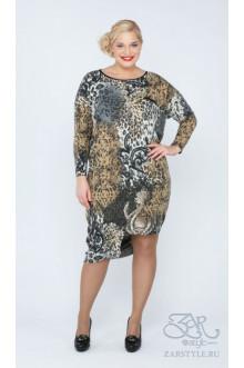 "Платье ""Кайли"" Zar Style (Леопард)"