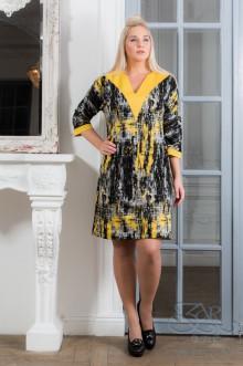 """Платье """"Милда"""" Zar Style (Черный/желтый)"""