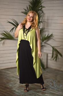 """Платье """"Ванда"""" Zar Style (Черный/салатовый)"""