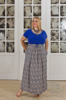 "Платье ""Агава"" Zar Style (Синий персик)"