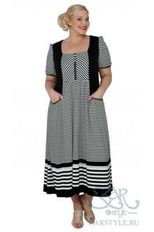 """Платье """"Сиеста"""" Zar Style (Черный/белый)"""