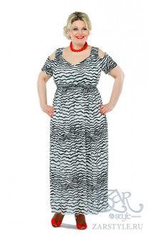 "Платье ""Хилари"" Zar Style (Черный/белый)"