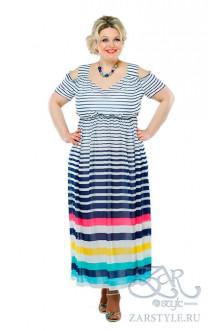 """Платье """"Хилари люкс"""" Zar Style (Полосы/радуга)"""