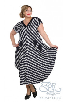 "Платье ""Клуни"" Zar Style (Синий/белый)"