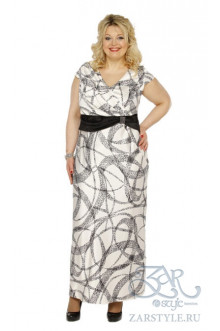 "Платье ""Сакура"" Zar Style (Черный салют)"