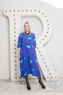 """Платье """"Мозаика"""" Zar Style (Синий)"""