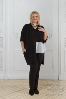 "Блуза ""Виола"" Zar Style (Черный/белый)"