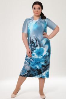 """Платье """"Безе"""" 1534-090 Грация Стиля (Голубой)"""