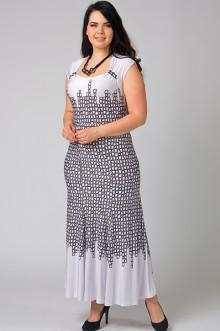 """Платье """"СКС"""" 8449 (Белый/чёрный)"""