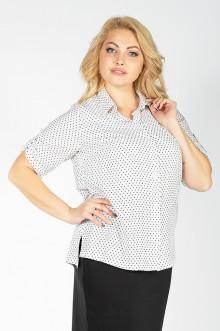 """Рубашка """"Есения"""" Sparada (Белый/Чёрный горох)"""