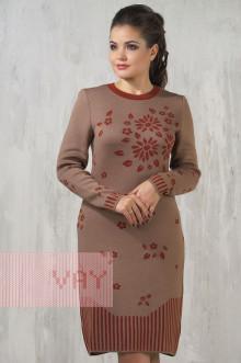 Платье женское 2171 Фемина (Кофейный/кирпичный)