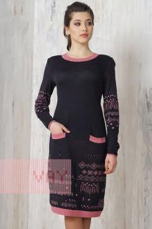 Платье женское 2170 Фемина (Мокрый асфальт/ликер)