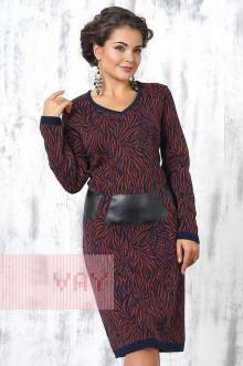 Платье женское 2189 Фемина (Темно-синий/кирпичный)