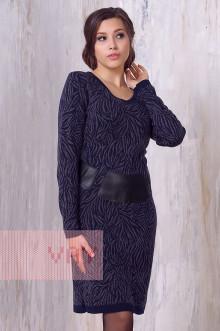 Платье женское 2189 Фемина (Темно-синий/графит)