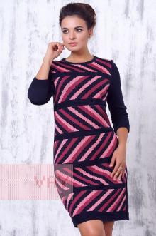 Платье женское 2192 Фемина (Темно-синий/клевер/рапсодия)