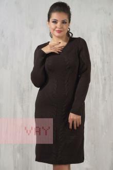 Платье женское 2183 Фемина (Темно-коричневый)