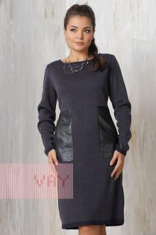 Платье женское 2182 Фемина (Мокрый асфальт/графит)