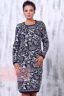 Платье женское 2191 Фемина (Темно-серый/светло-серый)
