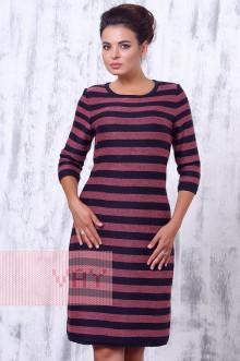 Платье женское 2157 Фемина (Мокрый асфальт/темная герань)