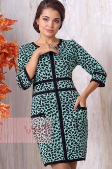 Платье женское 2129 Фемина (Черный/резеда)