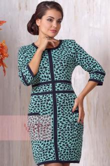 Платье женское 2129 Фемина (Темно-синий/резеда)