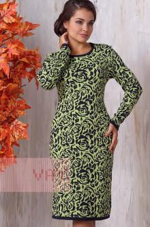 Платье женское 2121 Фемина (Темно-синий/лайм)