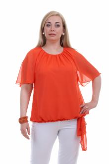 """Блуза """"Олси"""" 1410004 ОЛСИ (Оранжевый)"""