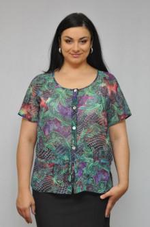"""Блуза """"Олси"""" 1210013.1 ОЛСИ (Зеленый/фиолет)"""