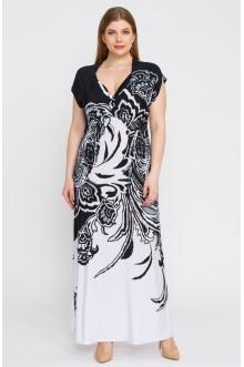 """Платье """"Лина"""" 5217 (Черный-белый)"""